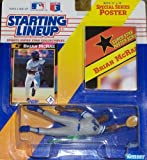 """Kansas City Royals Brian McRae Action Figure - 1991 Starting Lineup Major League Baseball Series with 11"""" x 14"""" Special Poster by Starting Line Up -"""