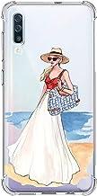 Suhctup Coque Filles Compatible pour Samsung Galaxy A50,Etui [Antichoc Airbag] Transparent Silicone TPU Souple Mode Motif ...