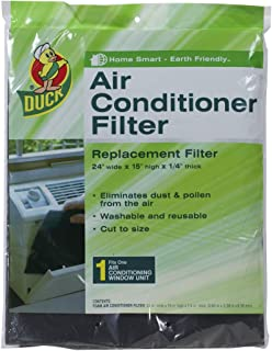 Duck Brand Replacement Air Conditioner Foam Filter, 24-Inch x 15-Inch x 1/4-Inch, 1285234
