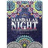 Libros de mandalas colorear adultos de Colorya - Mandalas Night - Encuadernación en espiral, papel premium, sin transferencias de color, impresión a una cara A4 - Libros para colorear adultos