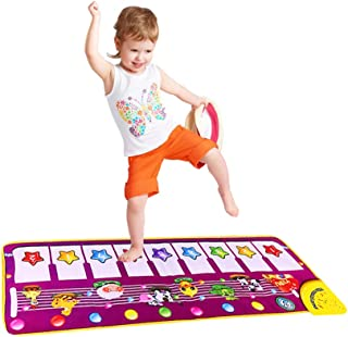 SGDD Piano Mat, Musical Piano Keyboard Dance Mat Carpet Baby Touch Play Animal Blanket Toys for Little Boys Girls Baby Gifts Xmas for Kids