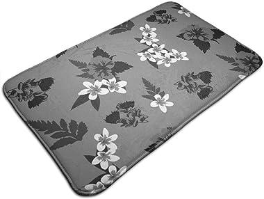 Hawaiian Greys_2320 Personalized Custom Doormats Indoor/Outdoor Doormat Door Mats Non Slip Rubber Kitchen Rugs 23.6 x 15.8 in