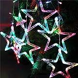 Locisne conectar LED 138 Stars 12pcs 1m * 2m cortina de luz de la ventana se enciende con 8 modos para el árbol de Navidad de interior