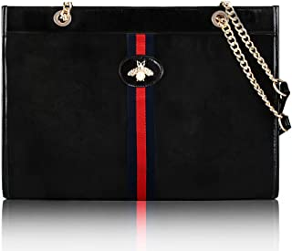 Designer Bee Soft Tote Handbag for Women, Fashion Tiger Top Handle Bag Shopping Shoulder bag Tote Set Purse…