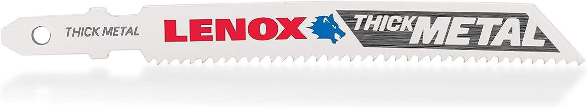 "LENOX Tools 1991596 T-Shank Power Arc Thick Metal Cutting Jig Saw Blade, 3 5/8"" x 3/8"" 14 TPI, 5 Pack"