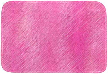 EGGDIOQ Doormats Pink Pattern Custom Print Bathroom Mat Waterproof Fabric Kitchen Entrance Rug, 23.6 x 15.7in
