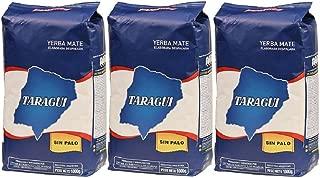 Taragui Yerba Mate Sin Palo 3 Pack (6.6lbs - 3 Kilos)