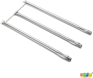 bbq factory JBX06 Replacement Straight Stainless Steel Tube Set Burner for Weber Genesis Series, Weber Genesis Gold B and C and Weber Platinum B and C Grills Prior to 2002, Lowes