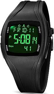 Montre Digitale Sport, 3D Montres Podomètres Trackers d'Activité Affichage de l'Heure Chronomètre d'Alarme Données de 7 Jo...