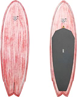 9ft x 31in x 4 1/2in Full Carbon Epoxy Net Rocket Fish SUP Stand Up Paddlboard Surfboard by JK Full Package