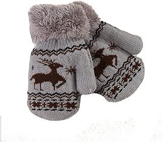 Christmas Elk Wool Mitten Kids Boys Girls Wool Winter Warm Gloves Urchart