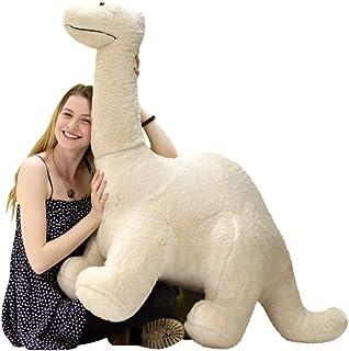 Big Plush American Made Papa Dinosaur, Soft Giant Stuffed Brontosaurus 4 Feet Long 3 Feet Tall Made in USA