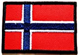 Norway Flag Embroidered patch Ideal for adorning your jeans, hats, bags, jackets and shirts.