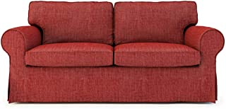 TLYESD Replace Cover for IKEA Ektorp Two Seater Sofa,Cotton Fabric Slipcover