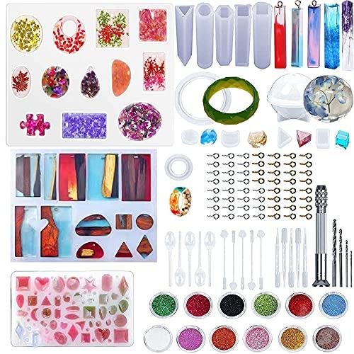 Molde de resina para joyas, molde de resina para hacer joyas de cristal