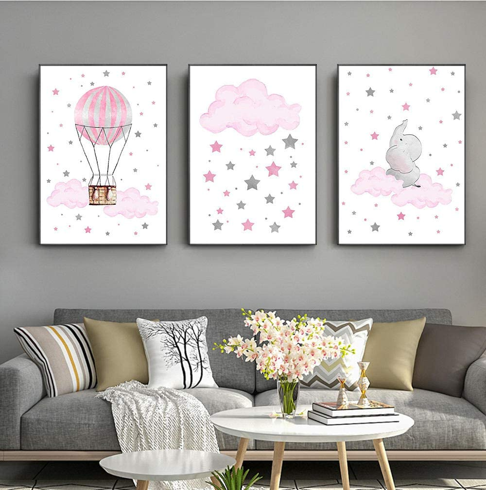 Cloud Balloon Baby Nursery Wall Poste Nordic Max 47% OFF Painting Art Canvas Max 78% OFF