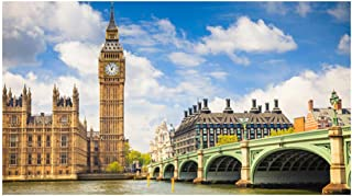 London Big Ben Jigsaw Puzzles for Adults Kids 1000 Pieces, Unique Puzzles with Large Pieces for Family Game Toys, Europe, England, Travel, Westminster Bridge, The Thames, 27.56``x19.69``
