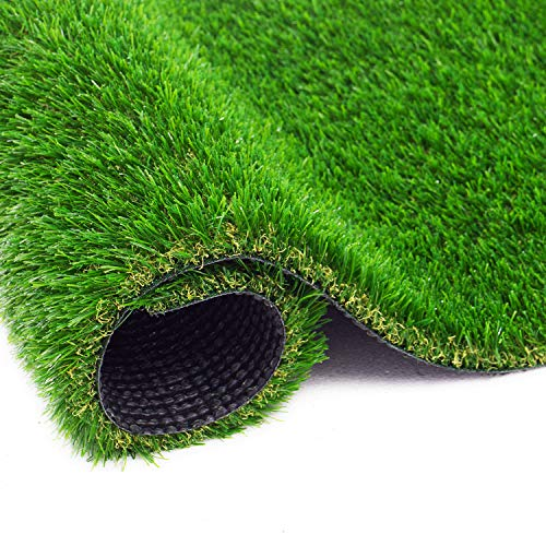 ZGR Artificial Garden Grass 4 ft x 6 ft Premium Lawn Turf, Realistic Fake Grass, Synthetic Turf, Thick Pet Turf, Fake Faux Grass Rug with Drainage Holes Indoor/Outdoor Landscape Customized Available