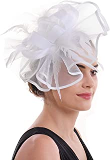 59189ddb0 Amazon.com: Whites - Fascinators / Special Occasion Accessories ...