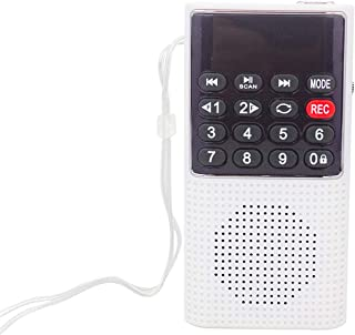 Iycorish L-328 Portable Pocket FM Auto Scan Radio Music Audio MP3 Player Outdoor Small Speaker with Voice Recorder(Silver)