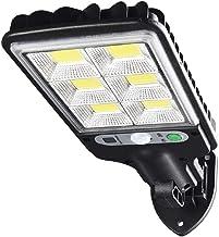 KIICN Luzes solares para ambientes externos, luzes de parede com sensor de movimento solar de 72 LEDs com 3 modos de ilumi...