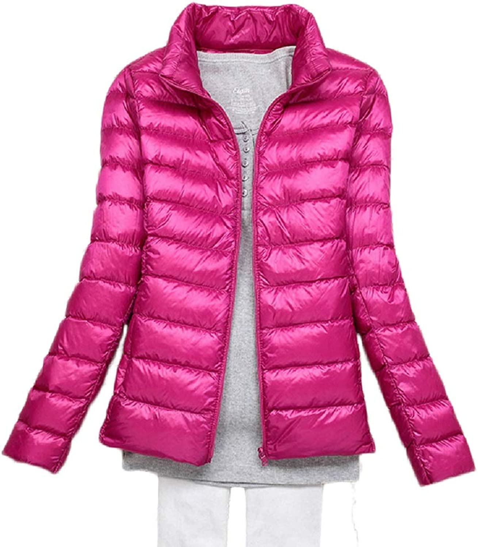 Aehoor Winter Warm Down Jacket Female Ultra Light 90% Duck Down StCollar Slim Wild