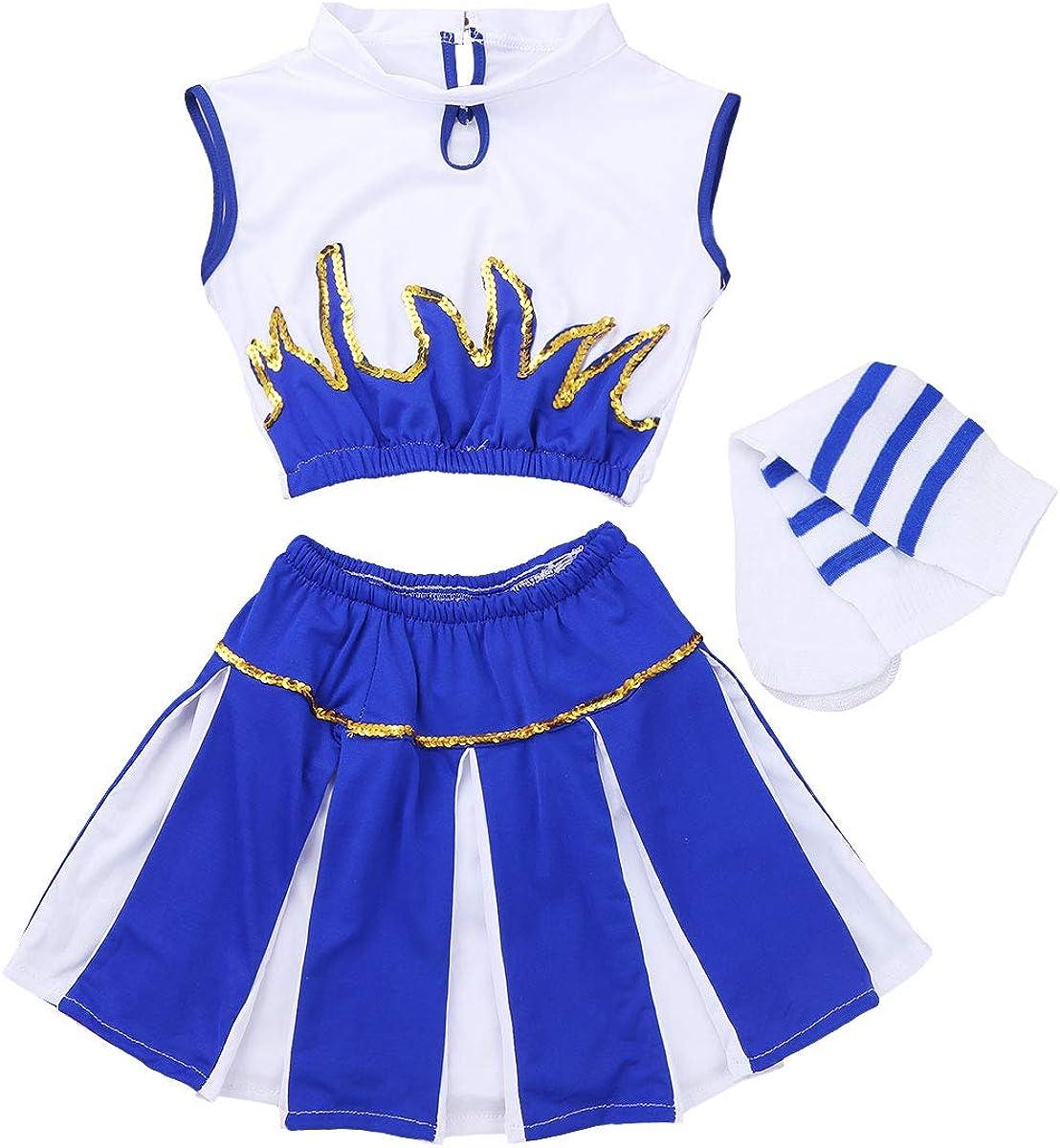 vastwit Kids Girls' sale 3Pcs Sequined outlet Crop Top wit Skirt Shorts Tank
