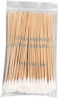 WT-DDJJK Waciki do czyszczenia, 100/200 szt. 15 cm długie drewniane rączki bawełniane patyczki do czyszczenia aplikator