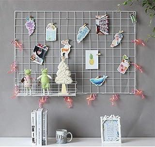 DIY Rejilla de hierro /Multifunción metal Mesh pared  foto pared / Decoración de la pared / Rejilla creativa 65 * 45cm blanco