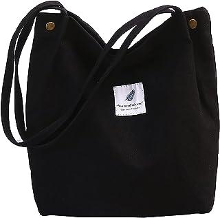 ZhengYue Damen Handtasche Groß Canvas Cord Tasche Damen Umhängetasche Henkeltasche Damen für Mädchen Schule