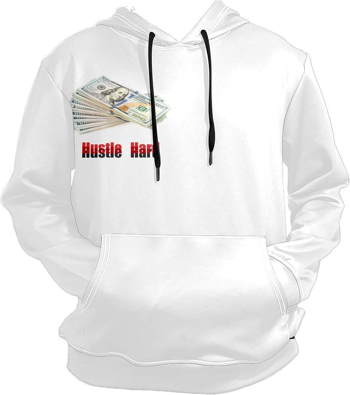 Hustle Hard Cash Dollar Mens Sport Hoodie Big and Tall Hoodies for Men Women Oversized Hooded Sweatshirt Hip Hop Pullover Hoodie Midweight Hood for Boys Girls