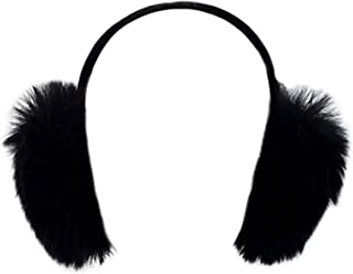 Genuine Faux Fox Earmuff with Velvet Band, Winter Fashion Ear Warmers, Perfect Elegant Women's Luxury Gift