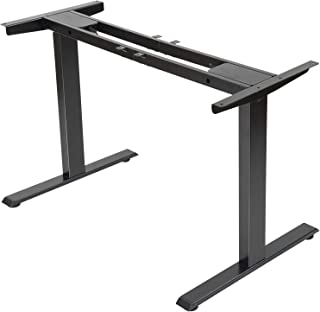 Electric Stand up Desk Frame - FEZIBO Dual Motor and Cable Management Rack Height Adjustable Sit Stand Standing Desk Base ...