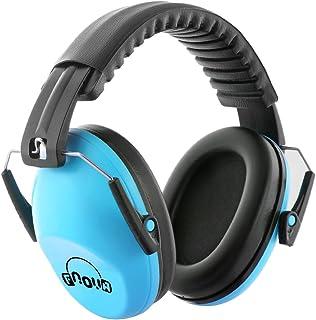 Fnova 防音イヤーマフ 遮音値26dB プロテクター フリーサイズ 折りたたみ型 子供用 自閉症 聴覚過敏 騒音対策 勉強等様々な用途に (ブルー)