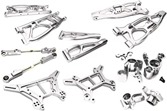 Integy RC Model Hop-ups C28729SILVER Billet Machined Alloy Suspension Kit for Arrma 1/8 Kraton 6S BLX
