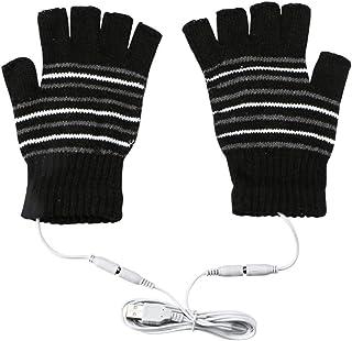 手袋 USB接続で加熱 あったか手袋 パソコン作業 PC モバイルバッテリーなど 洗えるUSBヒーター手袋 防寒対策 男女兼用 ヒーター手袋 指先 温かい ヒーター内蔵 ハンドウォーマー ブラック