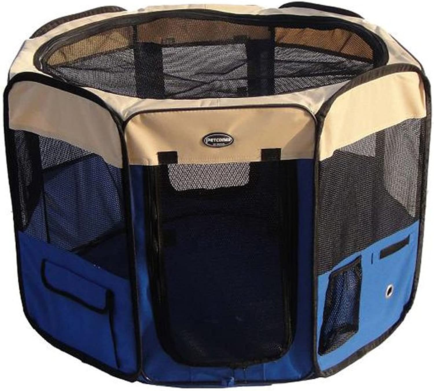 CHONGWFS Portable Oxford Cloth Dog Tent Dog Cage Dog Nest Foldable Removable Breathable Dog House Outdoor Travel Pet Fence (color   bluee, Size   S)