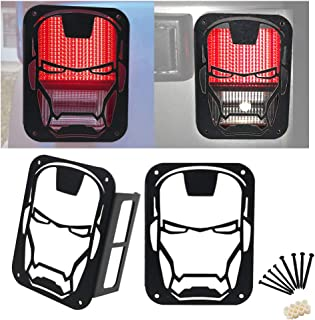 KEENAXIS Tail Light Covers Rear/Reverse/Brake Light Guard Cover for 2007-2018 Jeep Wrangler JK & Unlimited -