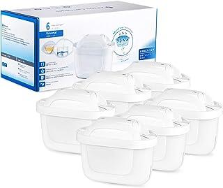 UOON Cartuchos Filtrantes para el Agua, Compatibles con BRITA MAXTRA+, Filtro s de agua para BRITA Jugs, Ayuda a Reducir la Cal y el Cloro, 6 unidades