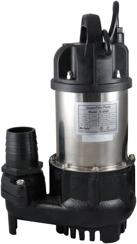 Matala GeyserFlow Submersible Pump Max 67% OFF 3 4 Limited time sale Free with P 4900GPH HP