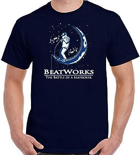 BEATWORKS Mens Funny Beatbox Parody T-Shirt Drums Rap Hip Hop