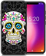 for Umidigi One Pro Case, Umidigi One Case, ABLOOMBOX Shockproof Slim Thin Soft Flexible TPU Silicone Protective Cover for Umidigi One/One Pro Paisley Black Seamless Floral