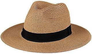 ZXAZBHD Sun Hat Men Outdoor Travel Sunscreen Folding Wide Along The Sun Hat, Anti-UV Straw Hat SBeige, Black, Brown, Whiteummer Beach Hats Panama Hats Ladies Hats Outdoor,Travel (Color : Brown)