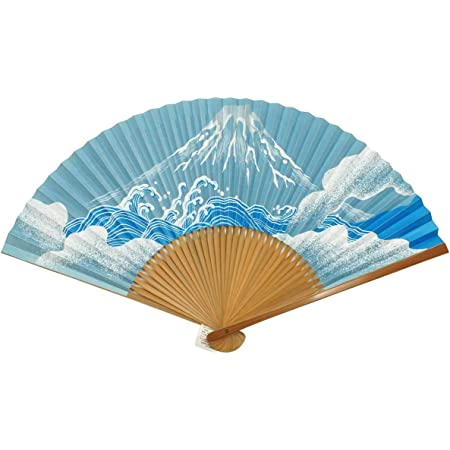 /<For men/> short-place Japanese paper folding fan snow and boat from JAP...