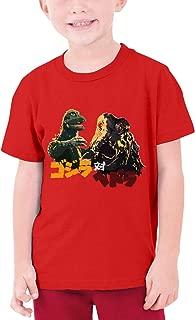 GEORBUR Godzilla Vs Hedorah Cotton T-Shirts Boys Tee, Black