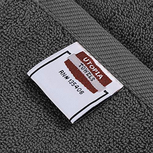 Utopia Towels - Grey Bath Towels Set, 4 Pack - Premium 600 GSM 100% Ring Spun Cotton