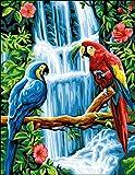 Anchor Royal Paris Macaws - Lienzo para Punto de Cruz, diseño de Loros