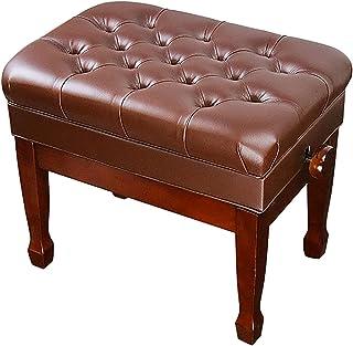 Gprice Solidna ławka do fortepianu, wygodny skórzany stołek dla pojedynczego osoby, wypełniony gąbką o dużej wytrzymałośc...