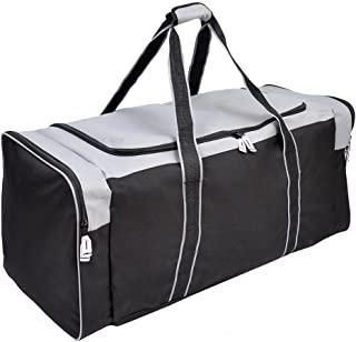 Jetstream Heavy Duty Multi Pocket Large Sports Gym Equipment Travel Duffel Bag (36 Inch, Grey)