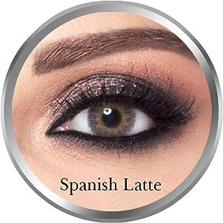 Amara Spanish Latte Contact Lenses, Original Unisex Amara Cosmetic Contact Lenses, Monthly Disposable, Spanish Latte (Oliv...